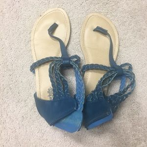 Blue sandals size 9.